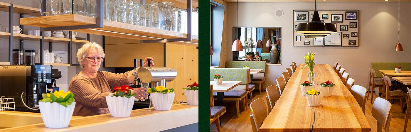 Die neu gestaltete Gaststube des Gasthofs Rebstock in Stetten am Bodensee